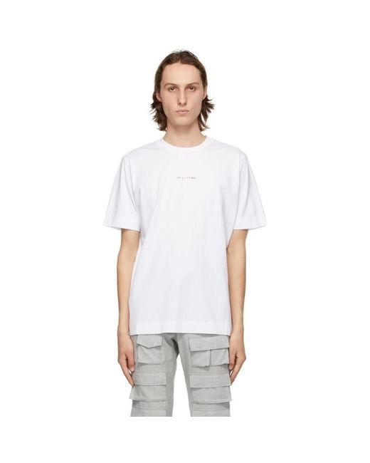 1017 ALYX 9SM White Change Of Heart T-shirt for men