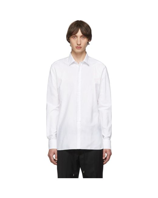 メンズ Lanvin ホワイト ラッフル シャツ White