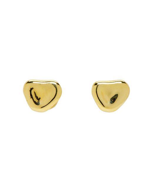 Faris - Metallic Ssense Exclusive Bronze Nugget Stud Earrings - Lyst