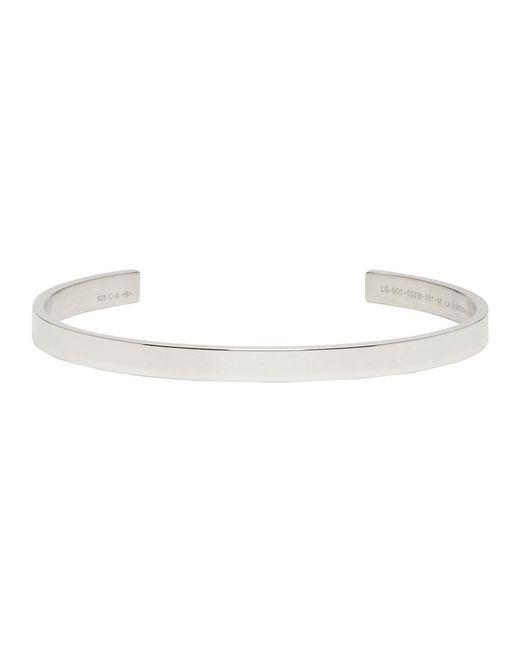 Le Gramme - Metallic Silver Polished Le 15 Grammes Bracelet for Men - Lyst
