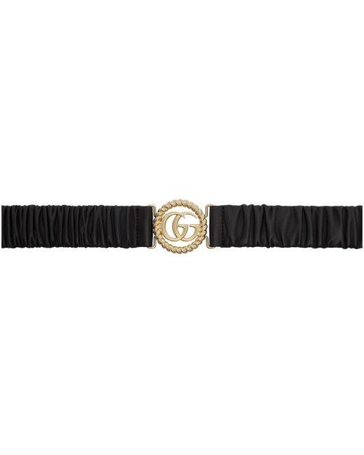 Gucci ブラック トーション GG バックル ベルト Black