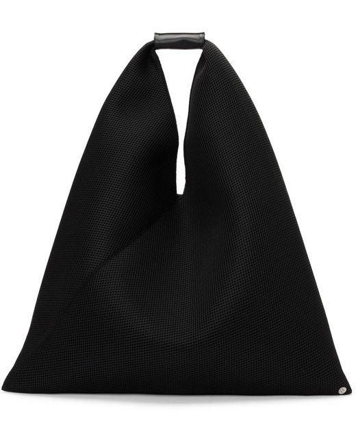 MM6 by Maison Martin Margiela ブラック メッシュ トライアングル トート Black
