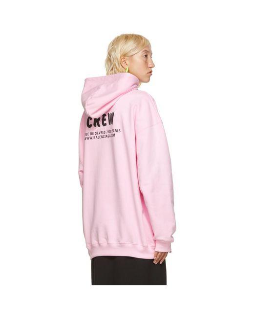 Balenciaga ピンク Crew フーディ Pink