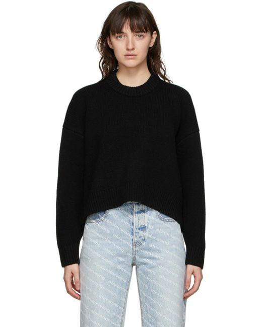 Alexander Wang ブラック Drape Back セーター Black