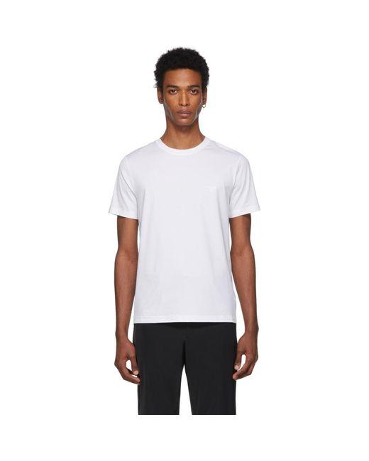 メンズ Prada ホワイト ジャージ T シャツ White