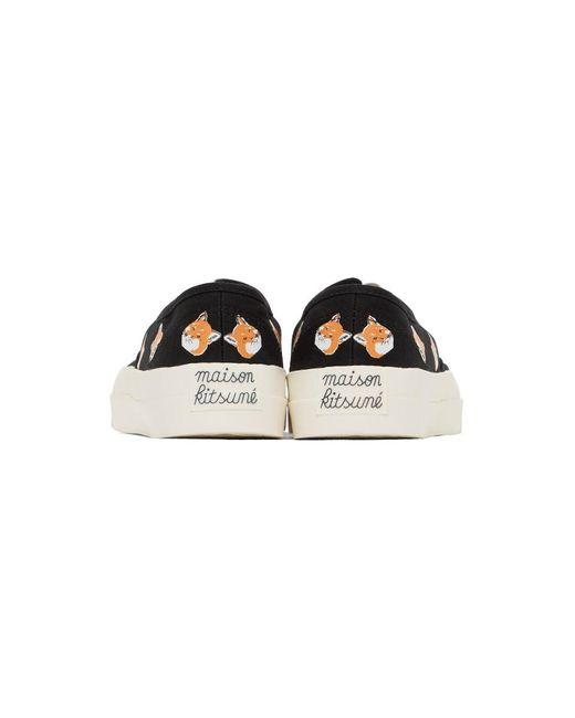メンズ Maison Kitsuné ブラック オールオーバー Fox Head スニーカー Black