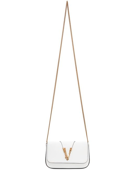 Versace ホワイト Virtus ショルダー バッグ White