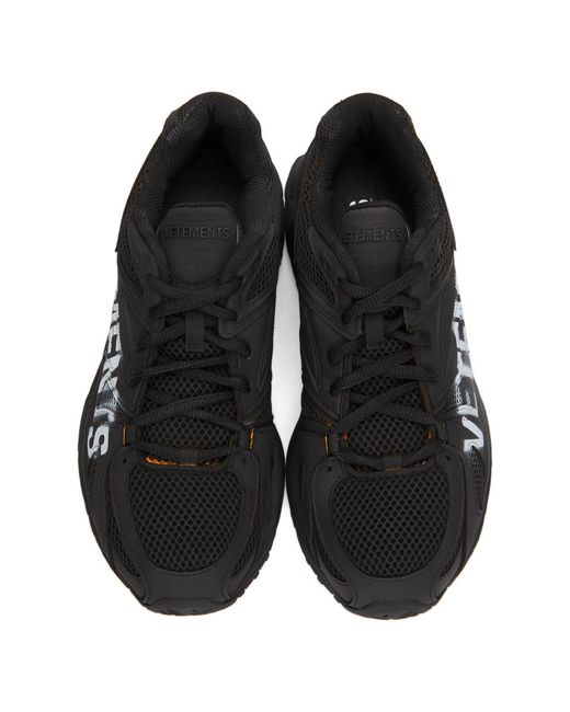 メンズ Vetements Reebok エディション ブラック Spike Runner ロゴ スニーカー Black
