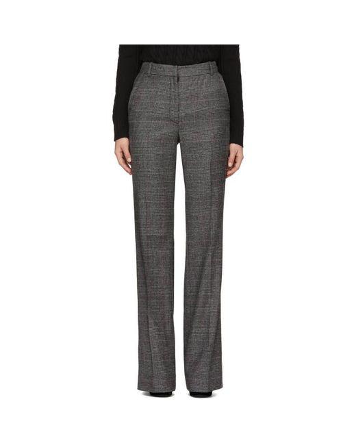 Erdem   Gray Grey Check Kaelin Trousers   Lyst