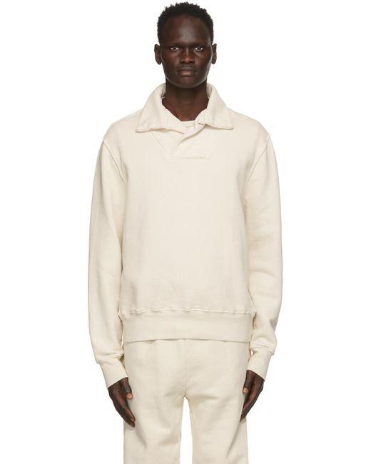 メンズ Les Tien オフホワイト Yacht スウェットシャツ White