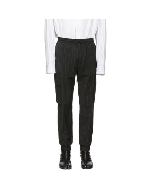 Juun.J - Black ブラック ストライプ カーゴ パンツ for Men - Lyst