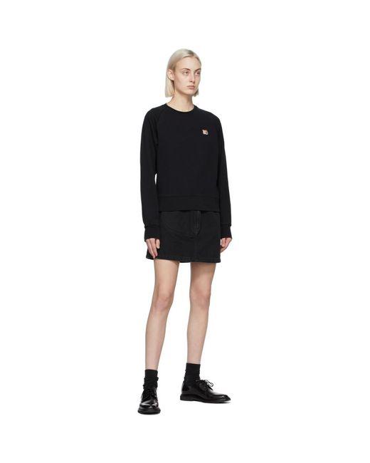 Maison Kitsuné ブラック Fox Head スウェットシャツ Black