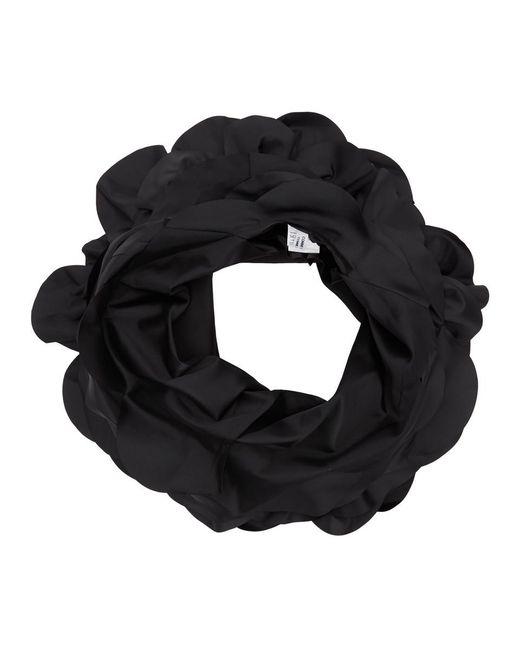 Comme des Garçons ブラック タフタ ラージ ラッフル ベスト Black