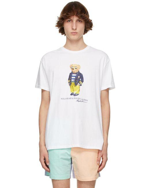 メンズ Polo Ralph Lauren ホワイト Polo Bear T シャツ White