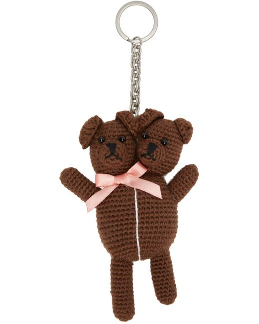 Marc Jacobs Heaven By コレクション ブラウン Vest Teddy キーチェーン Brown