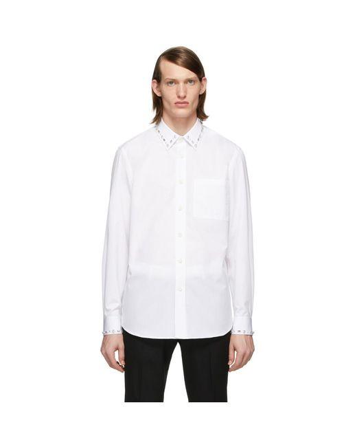 メンズ Burberry Ssense 限定 ホワイト オックスフォード シャツ White