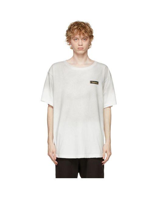 メンズ we11done ホワイト T シャツ White