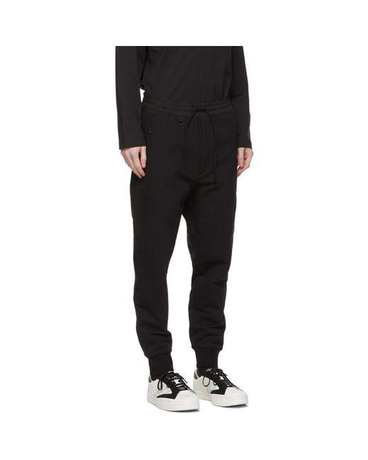 メンズ Y-3 ブラック ラウンジ パンツ Black