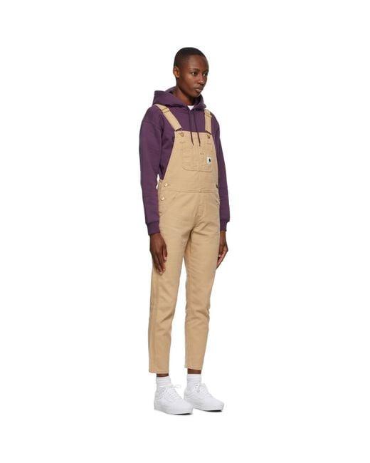 Carhartt WIP タン コットン オーバーオール ジャンプスーツ Multicolor