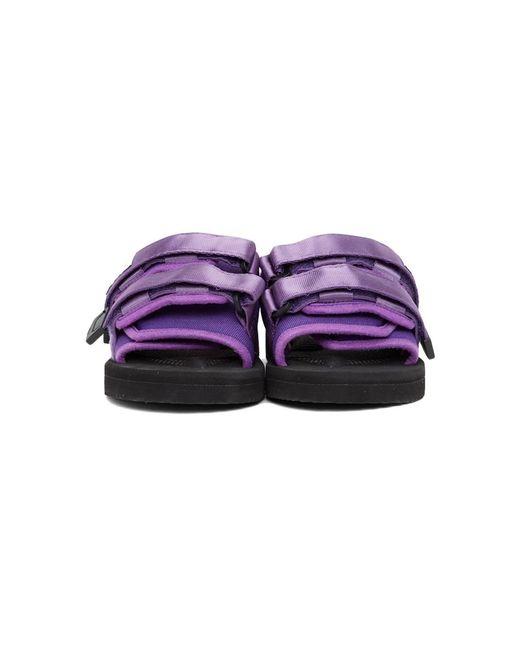 メンズ Suicoke Ssense 限定 パープル Moto-cab サンダル Purple