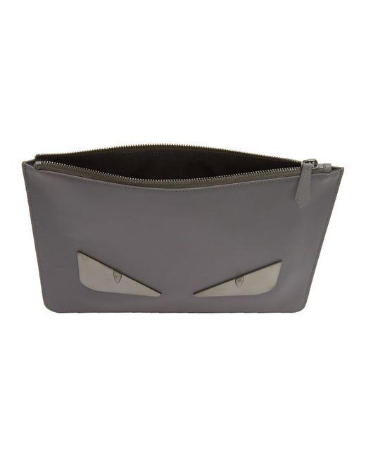 2f5c69c31394 ... Fendi - Gray Grey Metal Bag Bugs Pouch for Men - Lyst ...