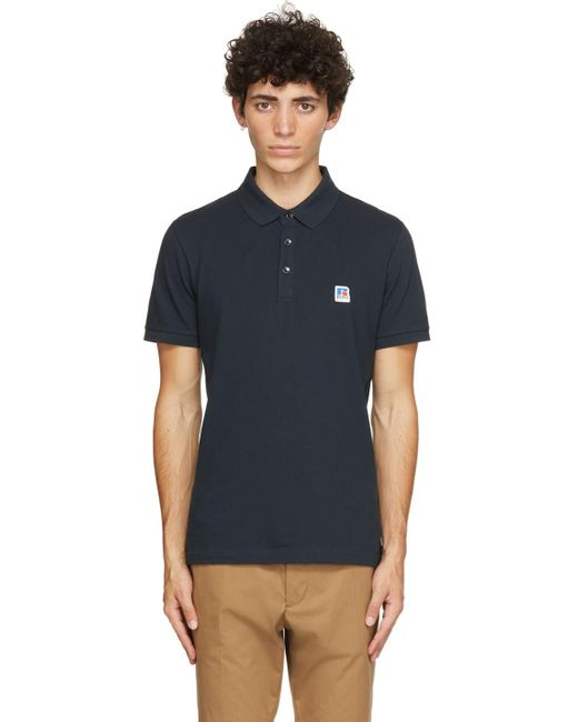 BOSS by Hugo Boss Blue Navy Russell Athletic Edition Petroc Polo for men