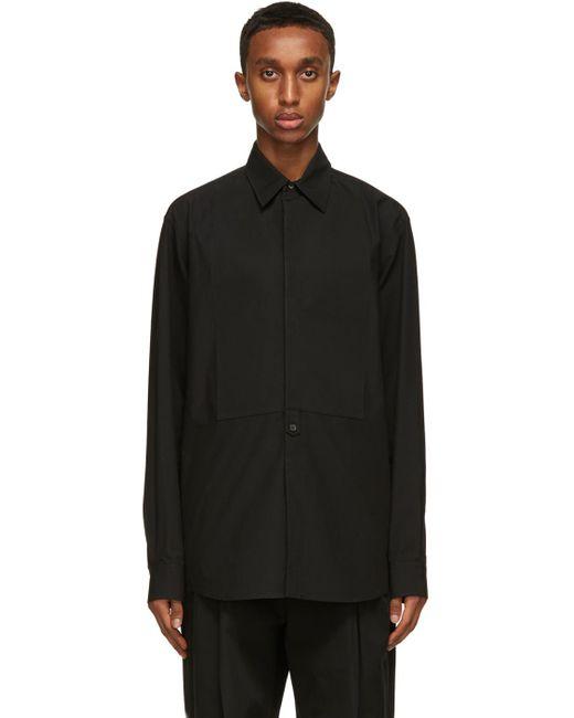メンズ Valentino ブラック Plastron シャツ Black