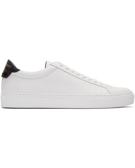 メンズ Givenchy ホワイト & ブラック Urban Knots スニーカー White