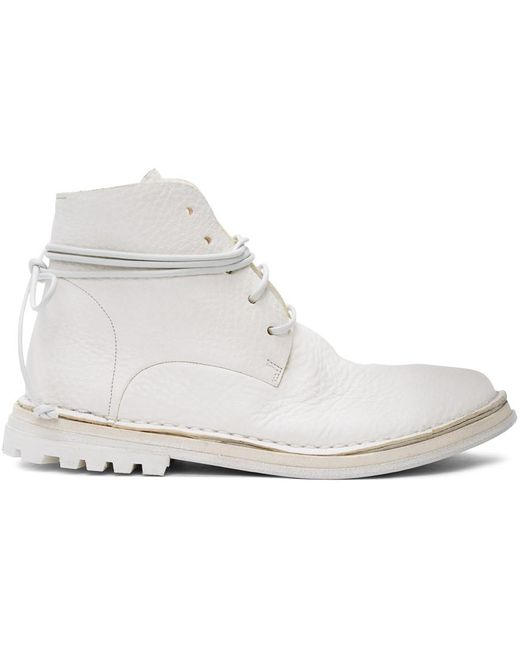 Marsèll White Fungaccio Boots