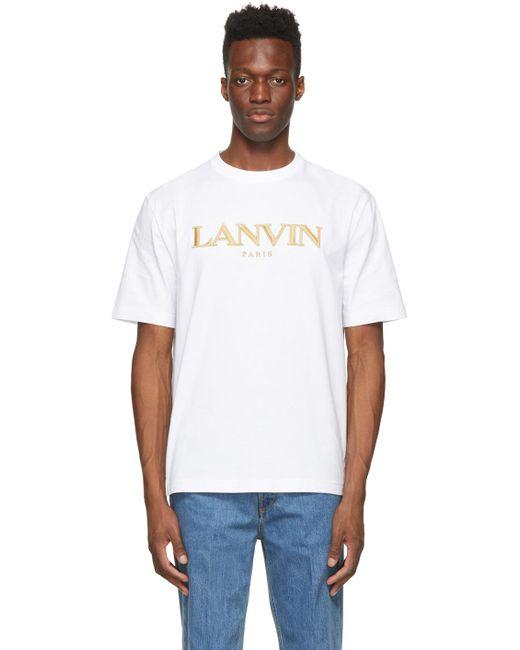 メンズ Lanvin ホワイト Regular T シャツ White