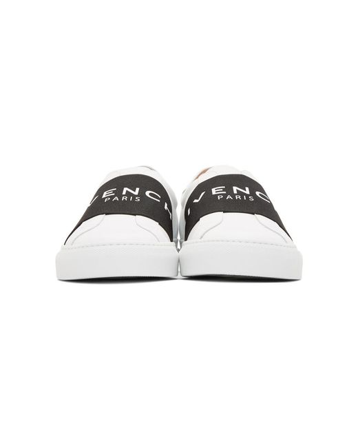 a49156a74c1 ... Givenchy - White Baskets a enfiler blanches Urban Knots for Men - Lyst  ...