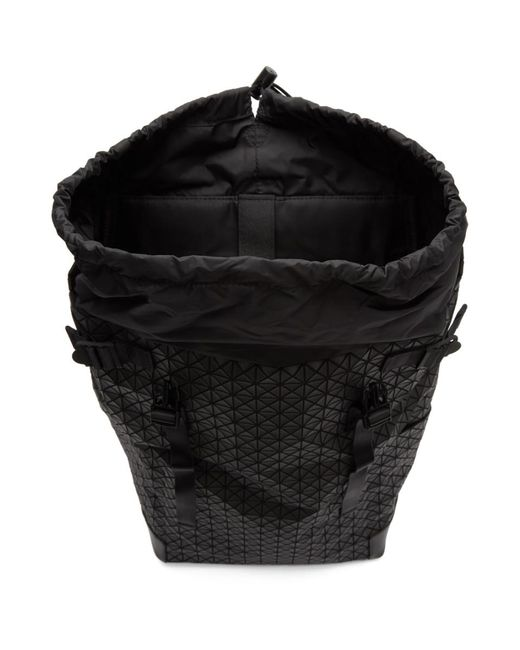 2c9d52cddc6 Mens Black daypack Backpack  detailed pictures aef49 fd141 ... Bao Bao  Issey Miyake - Black Hiker Backpack for ...