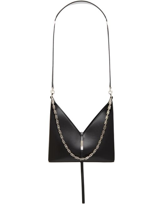 Givenchy ブラック スモール Cut Out With Chain バッグ Black