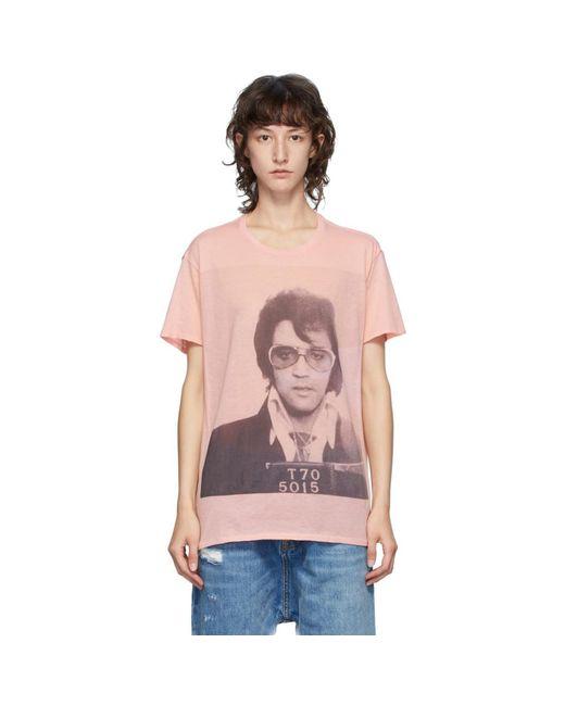 R13 ピンク Elvis T-70 Boy T シャツ Pink