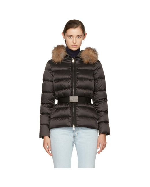 Moncler Black Down Tatie Jacket