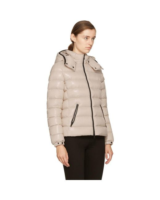... Moncler - Natural Beige Down Bady Jacket - Lyst ...