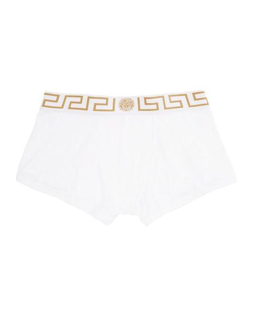 メンズ Versace ホワイト メドゥーサ ローライズ ボクサー ブリーフ White
