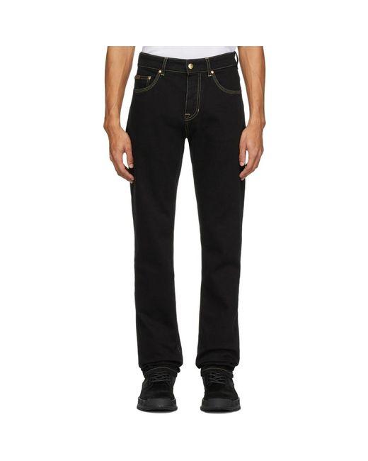 メンズ Versace Jeans ブラック スリム アイコン ジーンズ Black