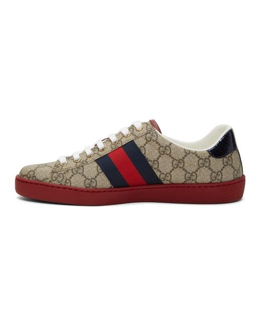 Gucci Leather New Ace Bee Gg Trainers