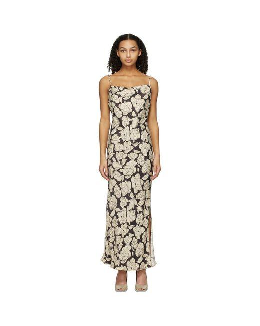 Nanushka ブラウン And ベージュ Willow ミッドレングス ドレス Natural