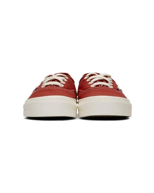 メンズ Vans レッド Og Authentic Lx スニーカー Red