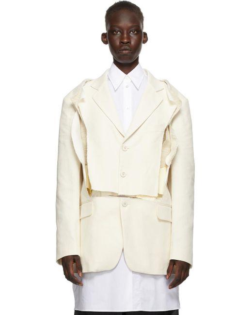Maison Margiela オフホワイト オーバーサイズ ブレザー White