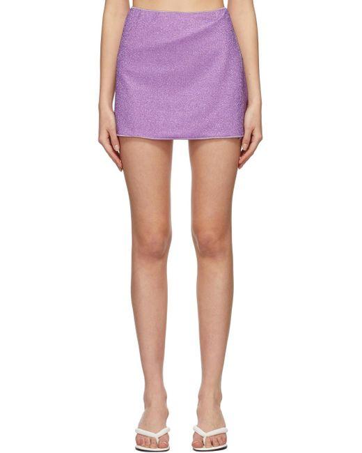 Oseree パープル Lumière ミニスカート Purple