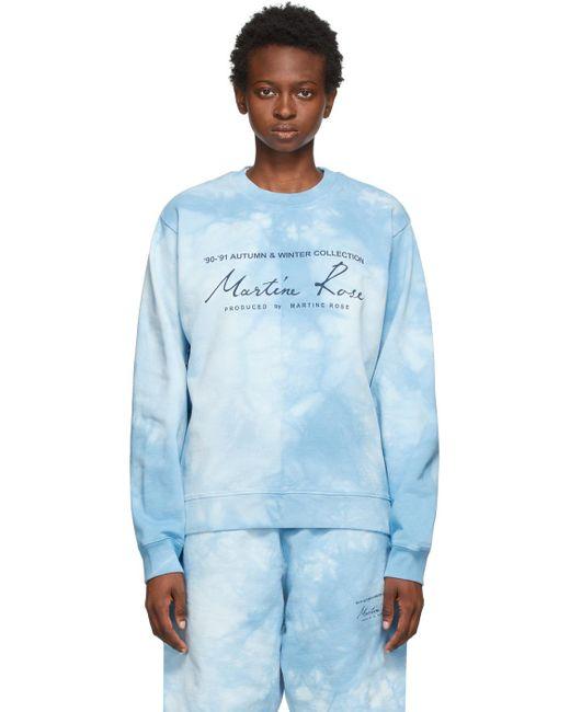 Martine Rose ブルー Classic クルー スウェットシャツ Blue