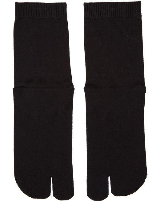 メンズ Maison Margiela ブラック Tabi 足袋 ソックス Black