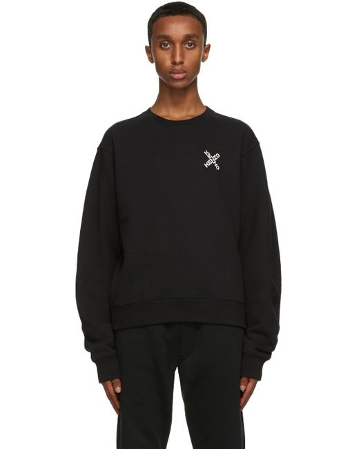 メンズ KENZO ブラック Little X Sport スウェットシャツ Black