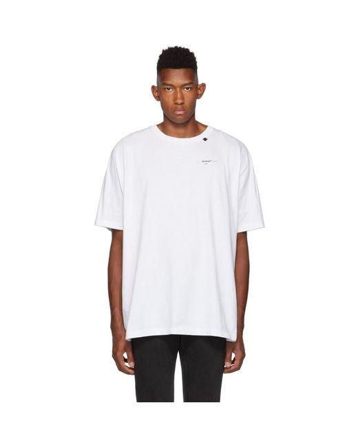 メンズ Off-White c/o Virgil Abloh ホワイト And ブラック アブストラクト アロー T シャツ White