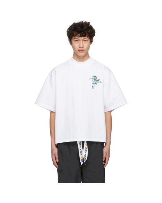 メンズ REEBOK X PYER MOSS Collection 3 コレクション ホワイト グラフィック T シャツ White