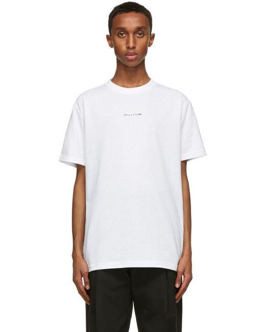 メンズ 1017 ALYX 9SM ホワイト Visual ロゴ T シャツ White