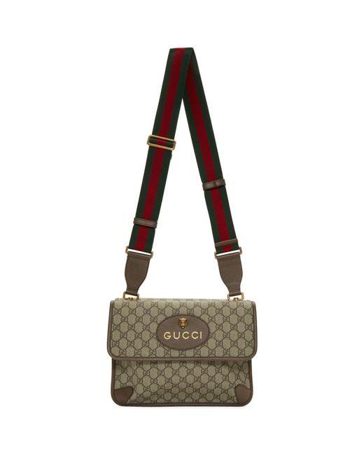 メンズ Gucci ベージュ GG スプリーム メッセンジャー バッグ Natural